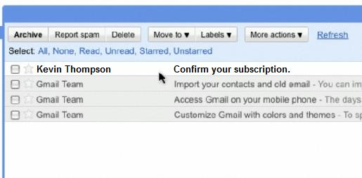 The confirmation email will look like this